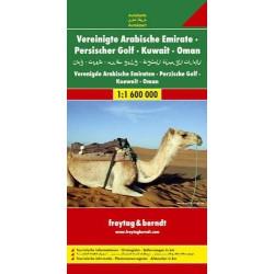 Achat Carte routière - Emirats Arabes Unis, Golfe Persique, Koweit, Oman - Freytag