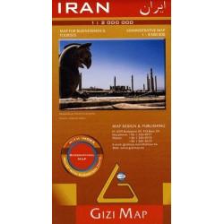 Achat Carte routière - Iran - Gizimap