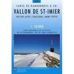 Carte ski randonnée Vallon de Saint Imier - swisstopo 232S