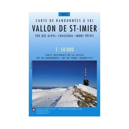 Achat Carte ski randonnée swisstopo - Vallon de Saint Imier - 232S