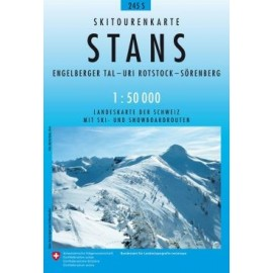 Carte ski randonnée Stans - swisstopo 245S