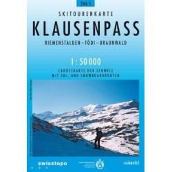 Carte ski randonnée Klausenpass - swisstopo 246S