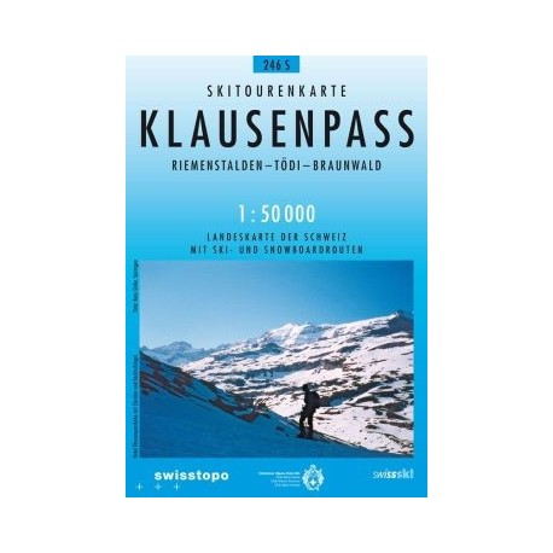 Achat Carte ski randonnée swisstopo - Klausenpass - 246S