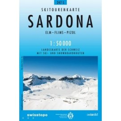 Carte ski randonnée Sardona - swisstopo 247S