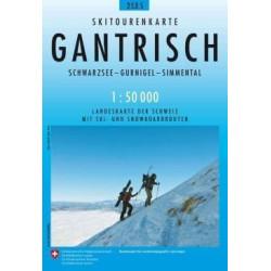 Carte ski randonnée Gantrisch - swisstopo 253S