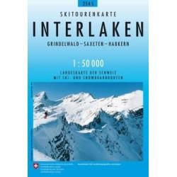 Carte ski randonnée Interlaken - swisstopo 254S