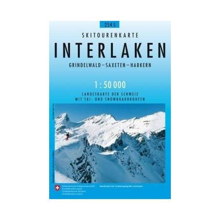 Achat Carte ski randonnée swisstopo - Interlaken - 254S