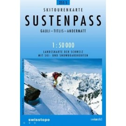Carte ski randonnée Sustenpass - swisstopo 255S