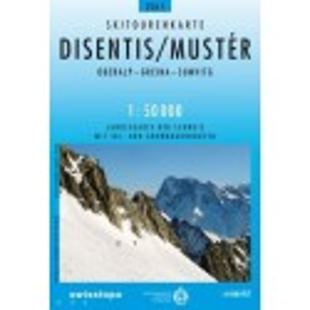 Achat Carte ski randonnée swisstopo - Disentis,Mustér  - 256S