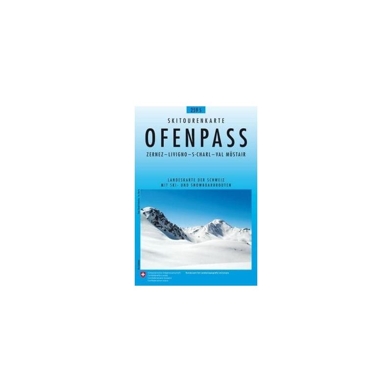 Achat Carte ski randonnée swisstopo - Ofenpass - 259S