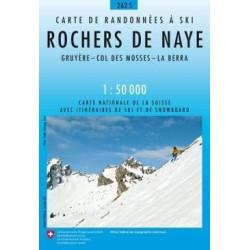 Achat Carte ski randonnée swisstopo - Rochers de Naye - 262S