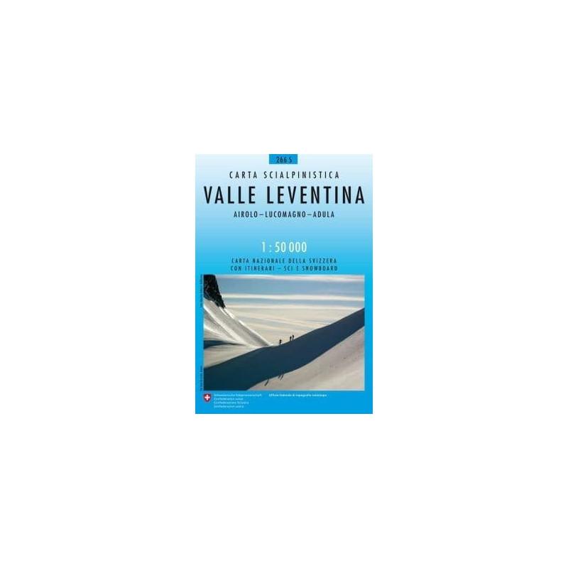 Achat Carte ski randonnée swisstopo - Valle Leventina - 266S