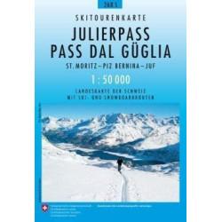 Achat Carte ski randonnée swisstopo - Julierpass - 268S