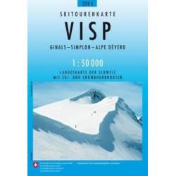 Achat Carte ski randonnée swisstopo - Visp - 274S