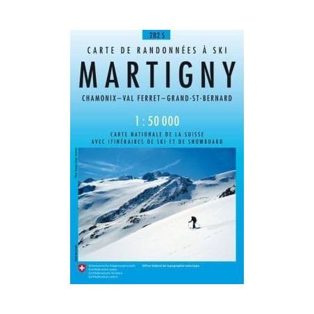 Achat Carte ski randonnée swisstopo - Martigny - 282S