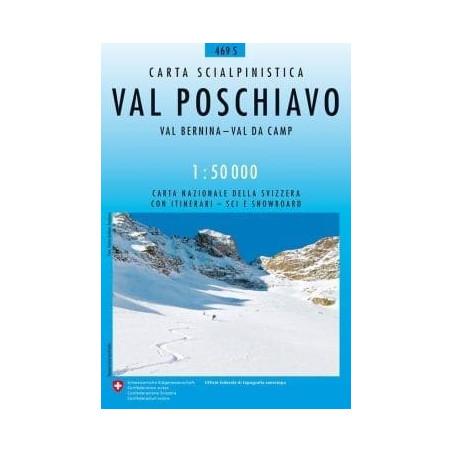Achat Carte ski randonnée swisstopo - Val Poschiavo - 469S