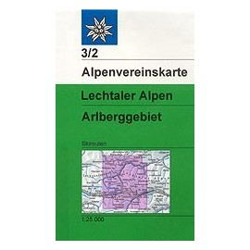 Achat Carte ski randonnée - Lechtaler alpen arlberg - Alpenverein 03/2S