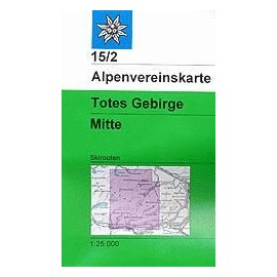 Achat Carte ski randonnée - Totes Gebirge, Mitte - Alpenverein 15/2S