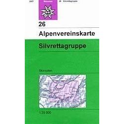 Achat Carte ski randonnée - Zentralalpen Silvrettagruppe - Alpenverein 26/S