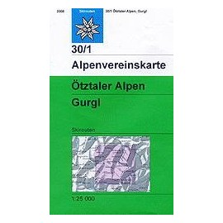 Carte ski randonnée - Otztaler, Alpen Gurgl - Alpenverein 30/1S