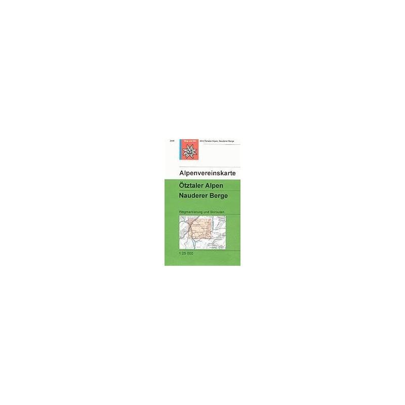 Achat Carte ski randonnée - Ötztaler Alpen, Nauderer Berge - Alpenverein 30/4S