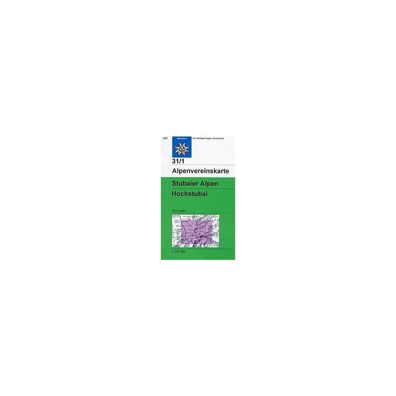 Achat Carte ski randonnée - Stubaier Alpen, Hochstubai - Alpenverein 31/1S