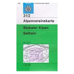 Achat Carte ski randonnée - Stubaier Alpen, Sellrain - Alpenverein 31/2S