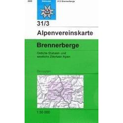 Achat Carte ski randonnée - Brennerberge - Alpenverein 31/3S