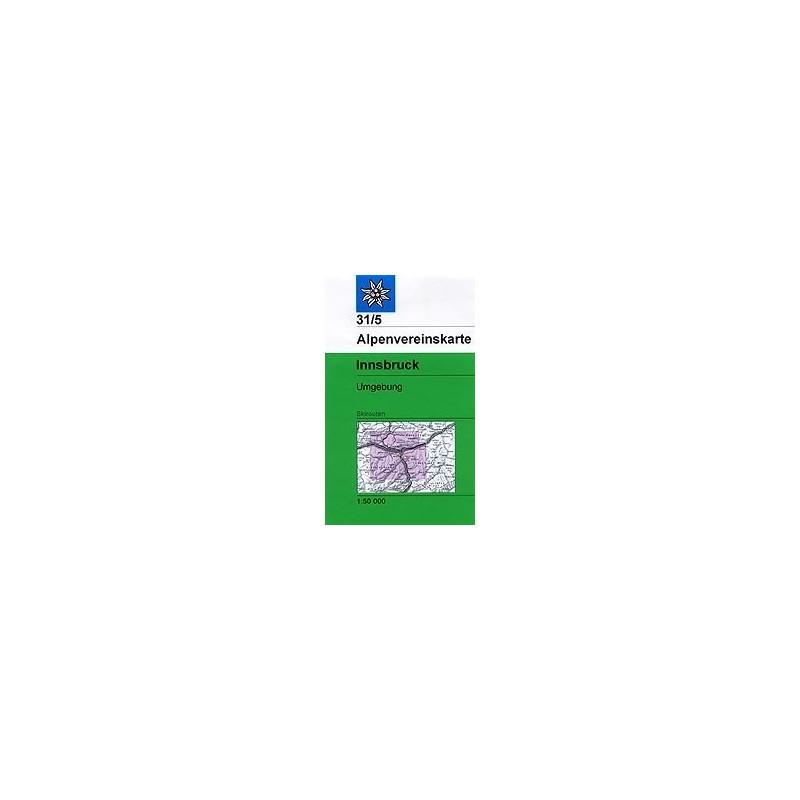 Achat Carte ski randonnée - Innsbruck - Alpenverein 31/5S