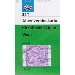 Achat Carte ski randonnée - Kitzbüheler Alpen, West - Alpenverein 34/1S