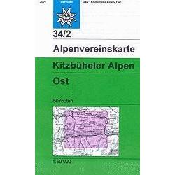 Achat Carte ski randonnée - Kitzbüheler Alpen, Ost - Alpenverein 34/2S