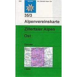 Achat Carte ski randonnée - Zillertaler Alpen, Ost - Alpenverein 35/3S