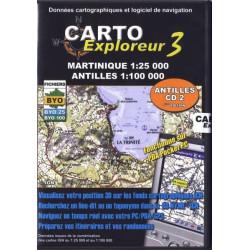 Achat CartoExploreur Martinique (1:25 000) + Antilles (1:100 000