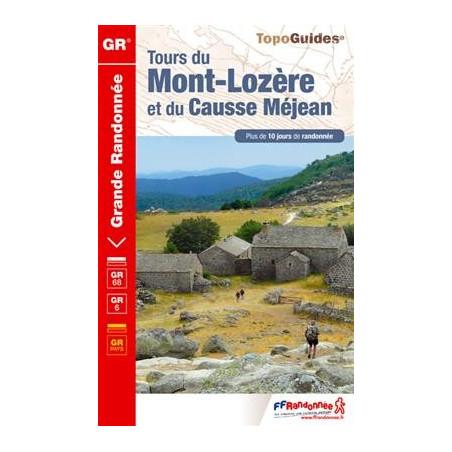 Achat Topo guide randonnées - Tours du Mont-Lozère, des Causses Méjean - FFRP 631