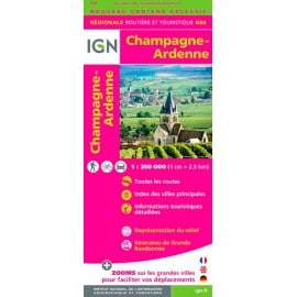 Achat Carte routière IGN - Champagne-Ardenne 2018 - R04