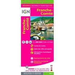 Achat Carte routière IGN - Franche-Comté 2018 - R10