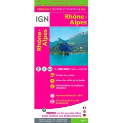 Achat Carte routière IGN - Rhône-Alpes 2018 - R14