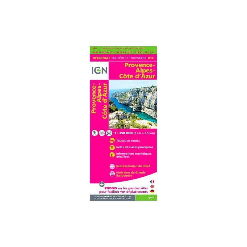 Provence-Alpes-Côte d'Azur 2015 - IGN R18