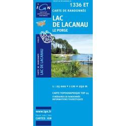 Achat Carte randonnées IGN Lac de Lacanau - 1336 ET