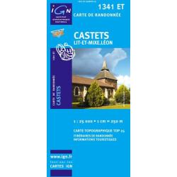 Achat Carte randonnées IGN Castets - Lit-et-Mixe - Léon - 1341 ET