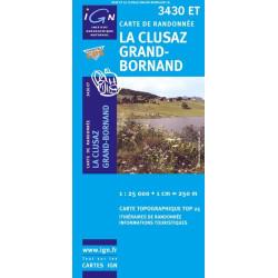 Achat Carte randonnées IGN La Clusaz Grand Bornand - 3430 ET
