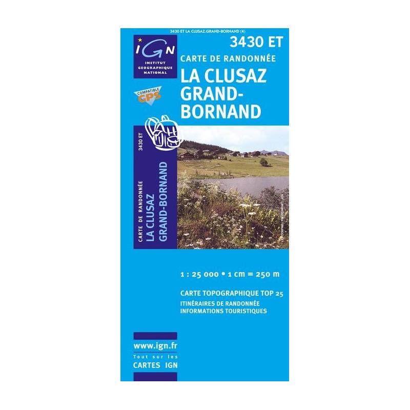 La Clusaz Grand Bornand - IGN 3430 ET