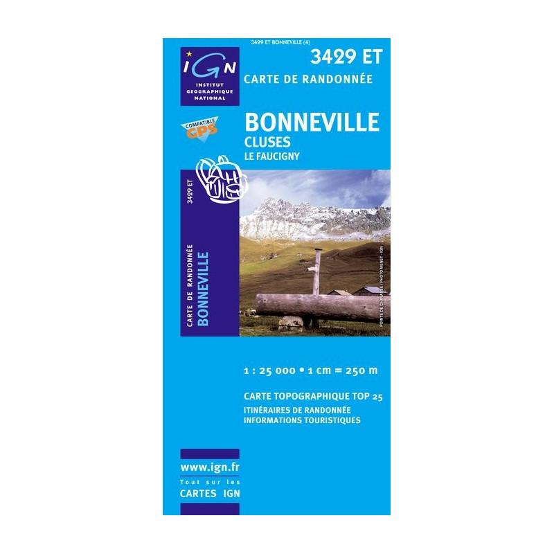Bonneville - Cluses - IGN 3429 ET
