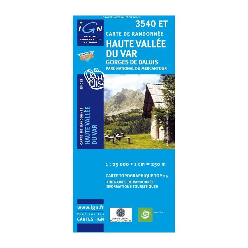 Haute Vallée Du Var - Gorges de Daluis - IGN 3540 ET