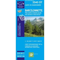 Achat Carte randonnées IGN - 3540 OT - Barcelonnette - Pra Loup Le Sauze Allos