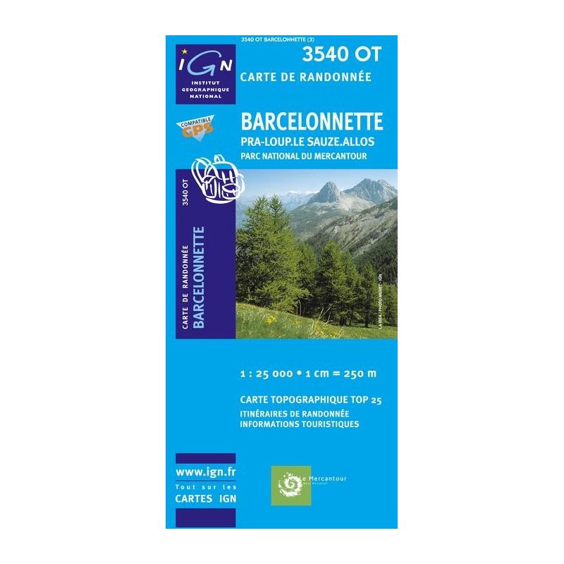 Barcelonnette - Pra Loup Le Sauze Allos - IGN 3540 OT