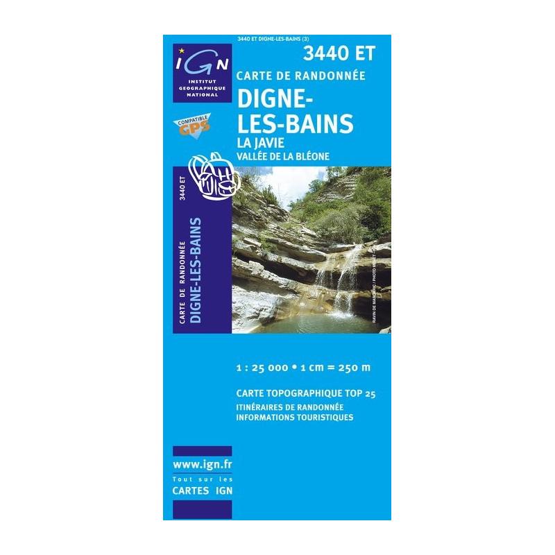 Digne Les Bains - La Javie - IGN 3440 ET