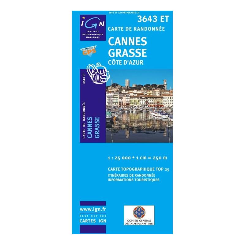 Cannes Grasse - Côte d'Azur - IGN 3643 ET