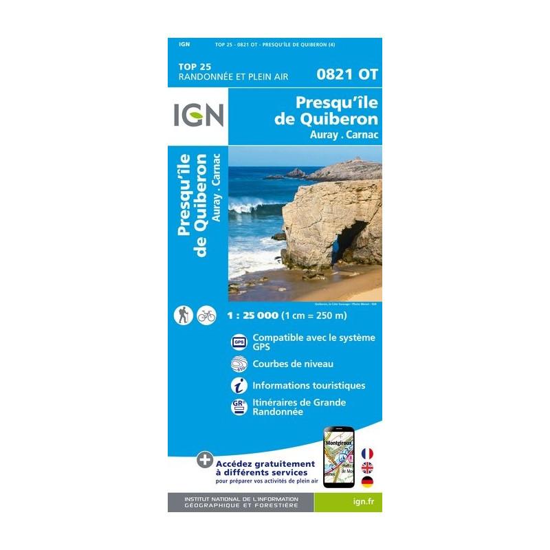 Presqu'île De Quiberon - Auray Carnac - IGN - 0821 OT
