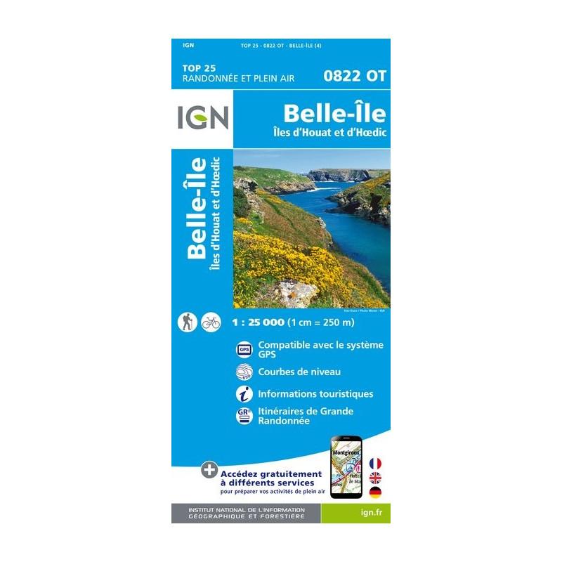 Belle Île - Îles d'Houat et d'Hoëdic - IGN - 0822 OT